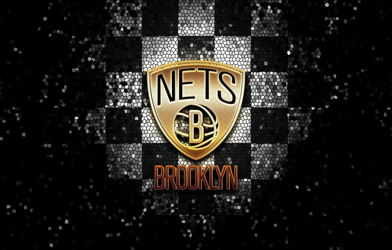 Wallpaper Wallpaper Sport Logo Basketball Nba Brooklyn Nets Glitter Checkered Images For Desktop Section Sport Download