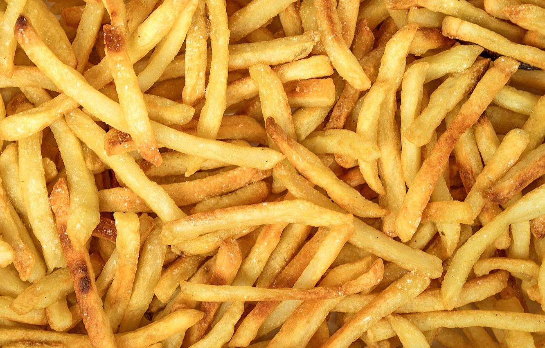 Photo wallpaper yellow, fried, potatoes, french fries