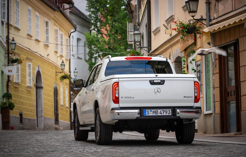 Photo wallpaper white, street, Mercedes-Benz, rear view, pickup, 2018, X-Class