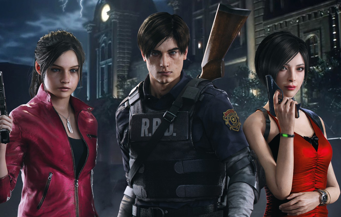 Wallpaper Resident Evil Ada Wong Claire Redfield Leon S
