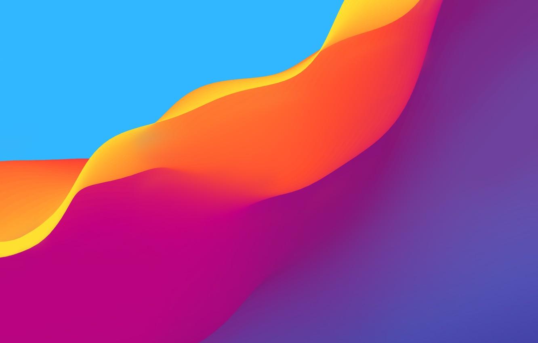 Photo wallpaper wave, color, line, background