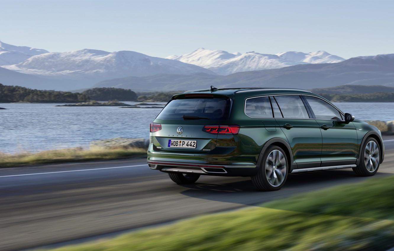 Photo wallpaper movement, Volkswagen, universal, Passat, dark green, Alltrack, 2019