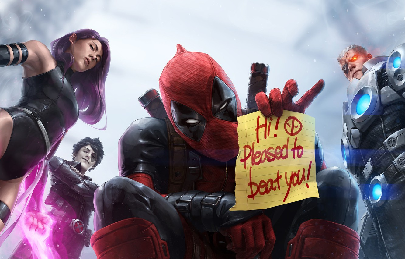 Wallpaper The Inscription Characters Marvel Deadpool Marvel