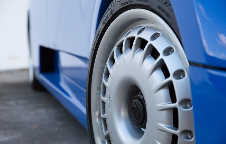 Photo wallpaper Blue, Drives, Bugatti EB110