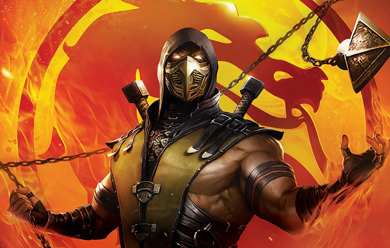 Wallpaper Mask Warrior Mortal Kombat Scorpion Images For
