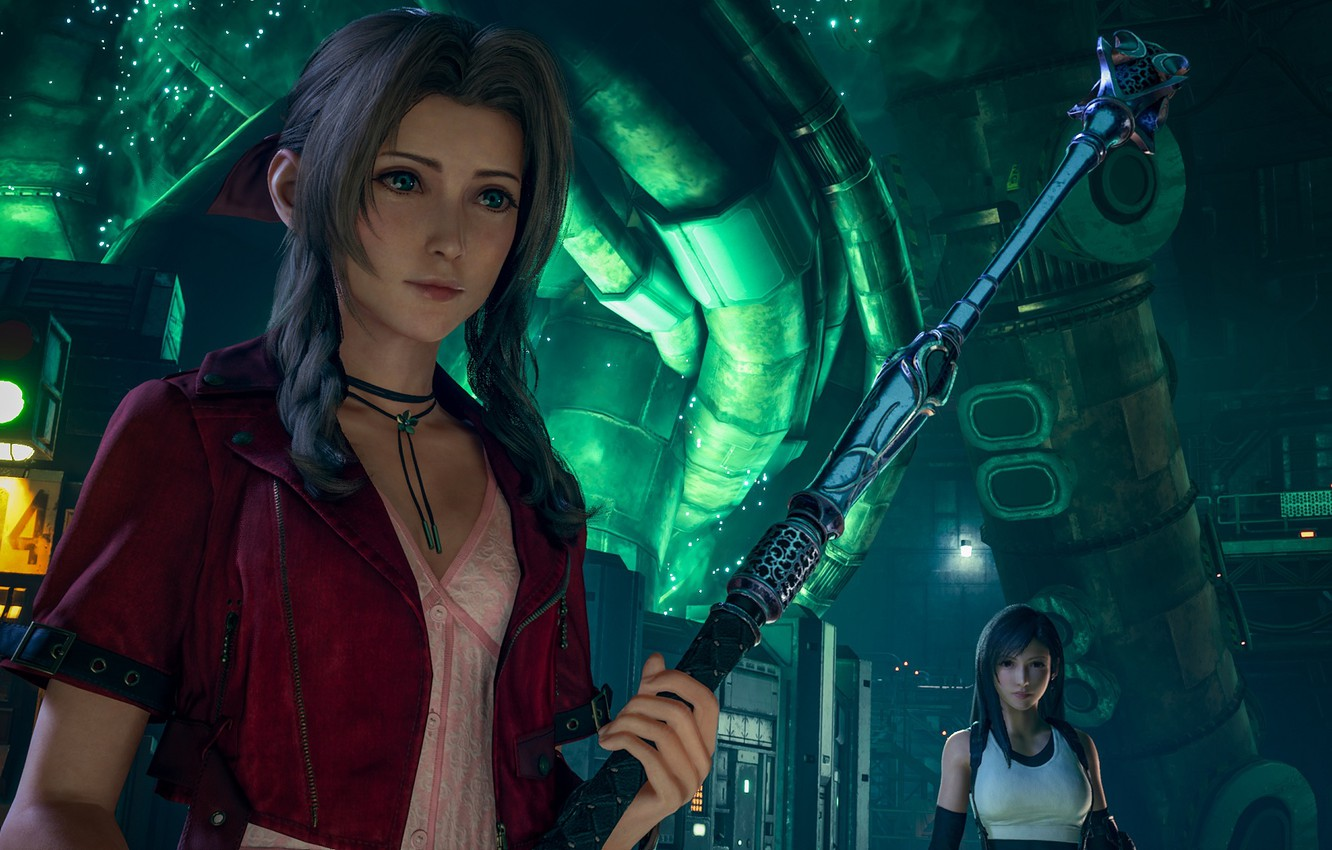 Wallpaper Girls Tifa Lockhart Aerith Gainsborough Final Fantasy Vii Remake Images For Desktop Section Igry Download