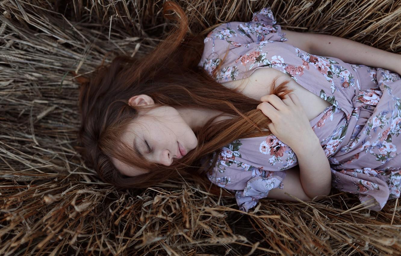 Photo wallpaper girl, sleep, Aleks Five