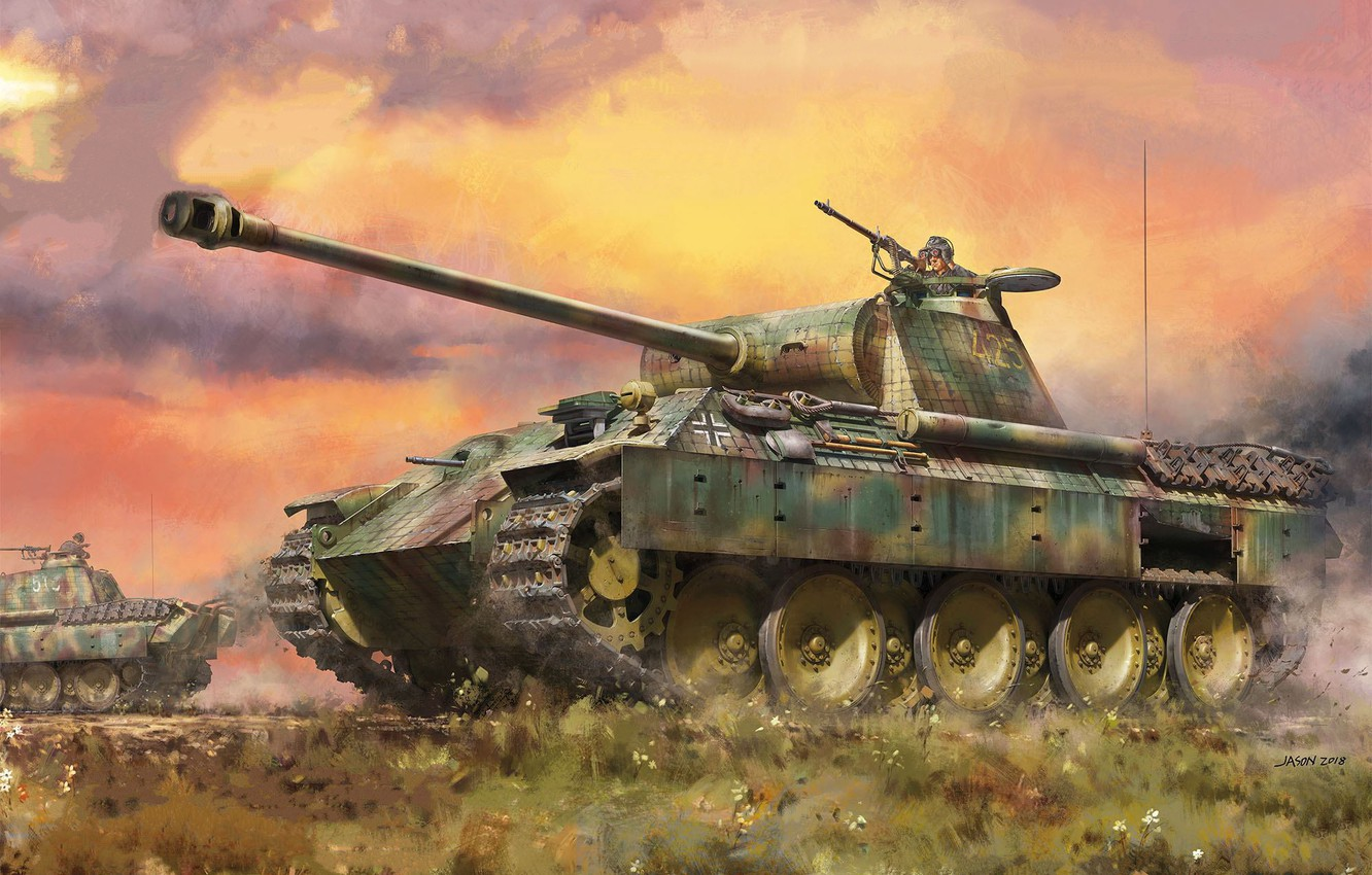 Photo wallpaper Panther, tank, jason, the Wehrmacht, average, panzerwaffe, Pz.Kpfw.V Panther A Early