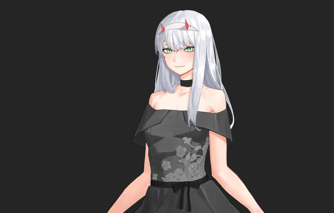 Photo wallpaper girl, 002, Darling In The Frankxx, Cute in France, Zero Two, ball gown