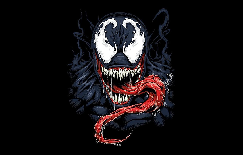 Photo wallpaper background, black, venom, MARVEL, venom