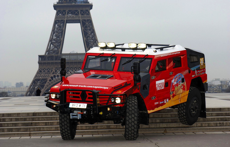 Photo wallpaper red, SUV, stage, Renault, Sherpa, Renault Trucks