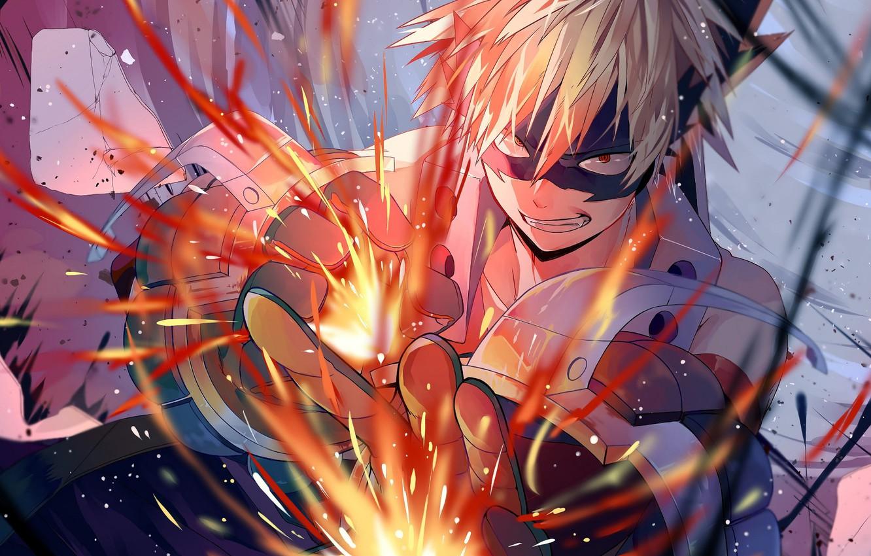Photo wallpaper smile, guy, My hero Academy, Boku No Hero Academy, Bakuga Katsuki