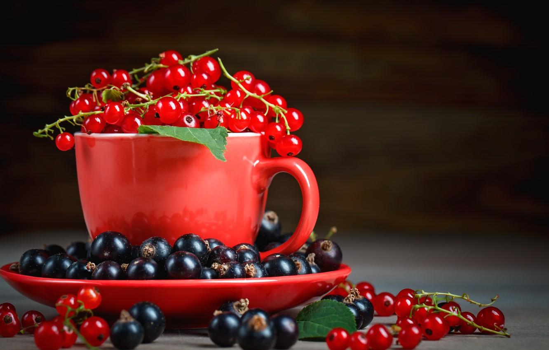 Photo wallpaper berries, mug, currants