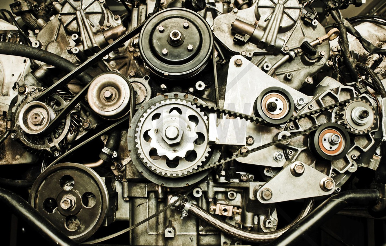 Photo wallpaper engine, technique, strap, gear, pulley