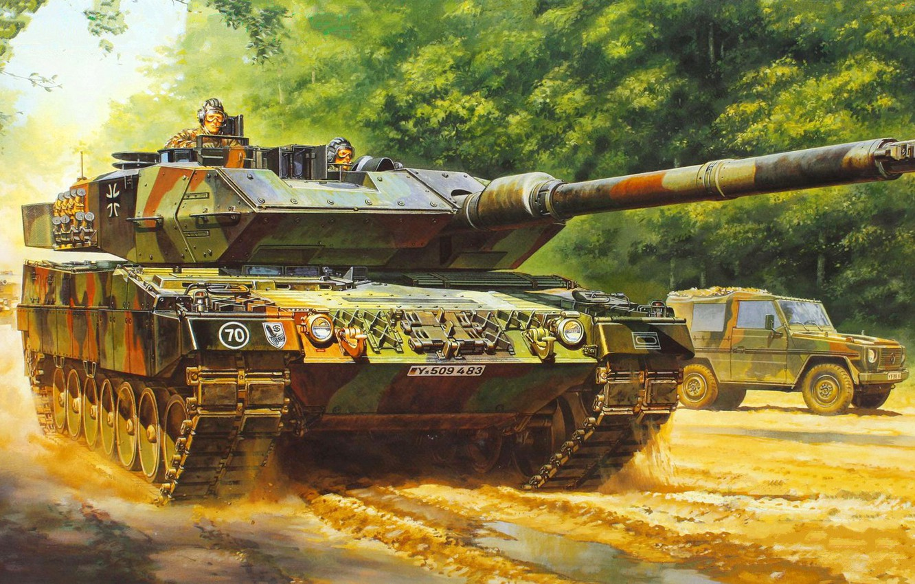 Wallpaper Leopard Germany Leopard German Main Battle Tank