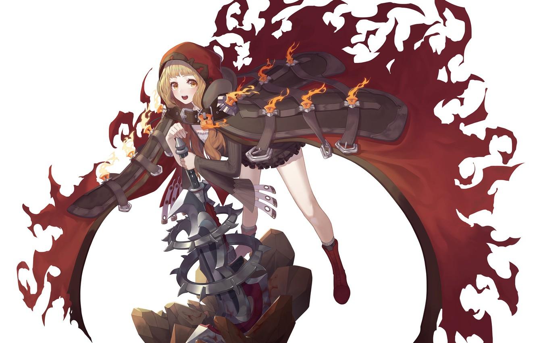 Photo wallpaper background, the game, art, girl, cloak, Sinoalice, Akazukin