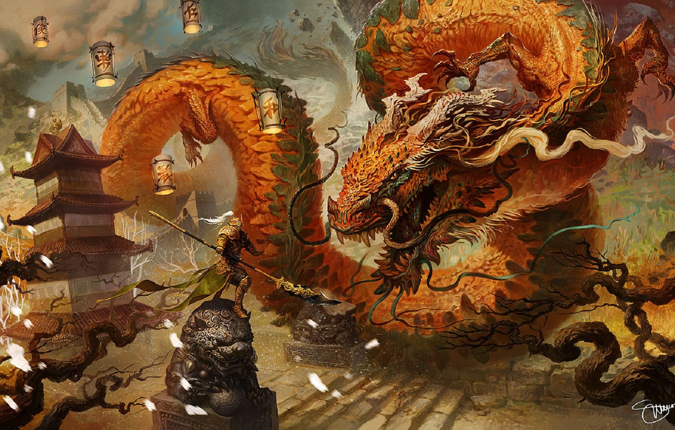 Wallpaper Mustache Dragon Armor Scales Warrior Lights Stage Horns Pagoda Battle Gold Art Sculpture Huge The Fight Chinese Dragon Images For Desktop Section Igry Download See also light armor list and category:light armor. wallpaper mustache dragon armor