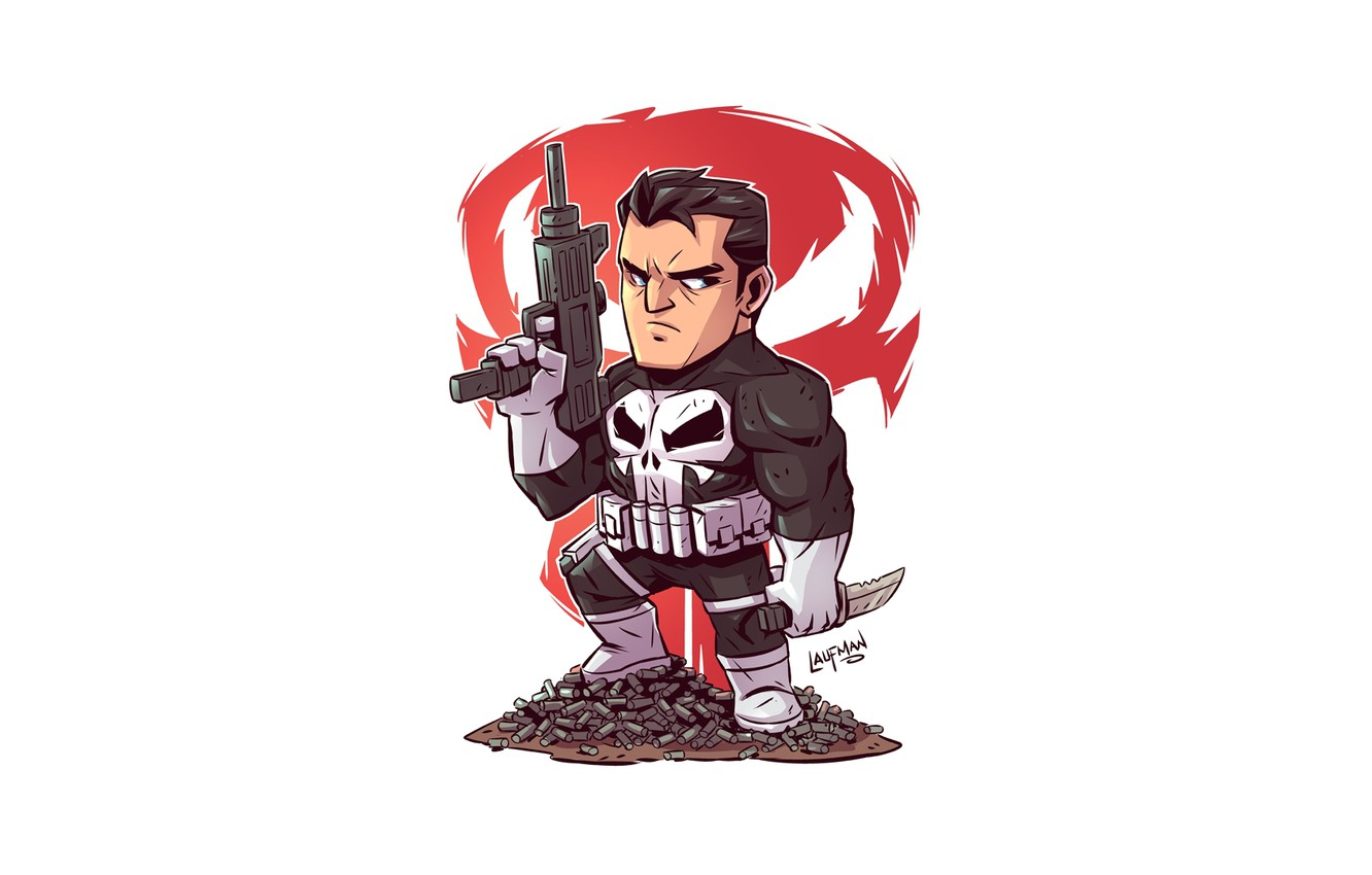Photo wallpaper Punisher, solider, Derek Laufman