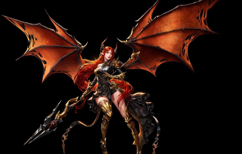 Photo wallpaper girl, wings, armor, art, warrior