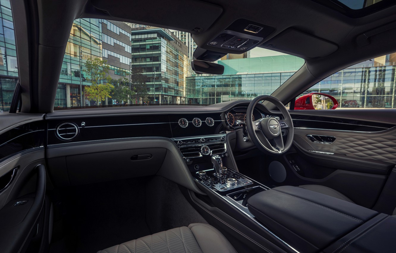 Photo wallpaper Bentley, salon, Flying Spur, 2020, V8, 2021, Flying Spur V8