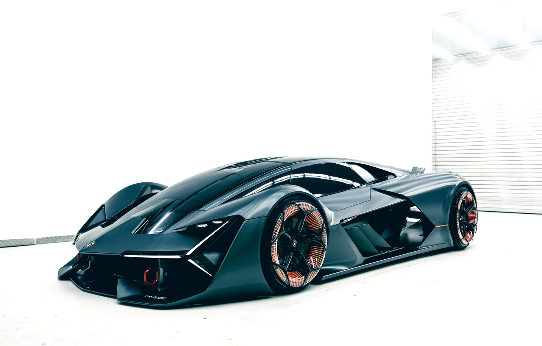 Photo wallpaper background, Lamborghini, the room, 2017, The Third Millennium Concept, not dark