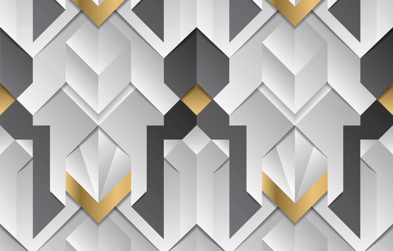 Photo wallpaper white, abstraction, grey, golden, white, gold, geometry, elements, stripes, element, decor, geometric