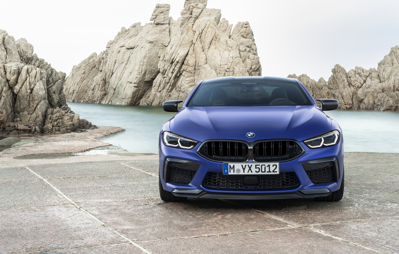 Photo wallpaper BMW, supercar, front view, Coupe, Competition, 2019, BMW M8, F92