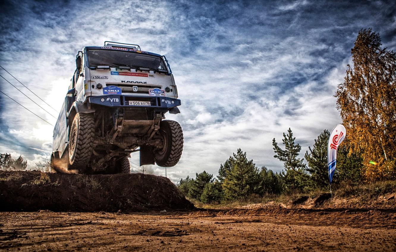 Photo wallpaper Sport, Machine, Speed, Truck, Race, Master, Russia, Kamaz, Rally, Dakar, KAMAZ-master, Dakar, Rally, KAMAZ, The …