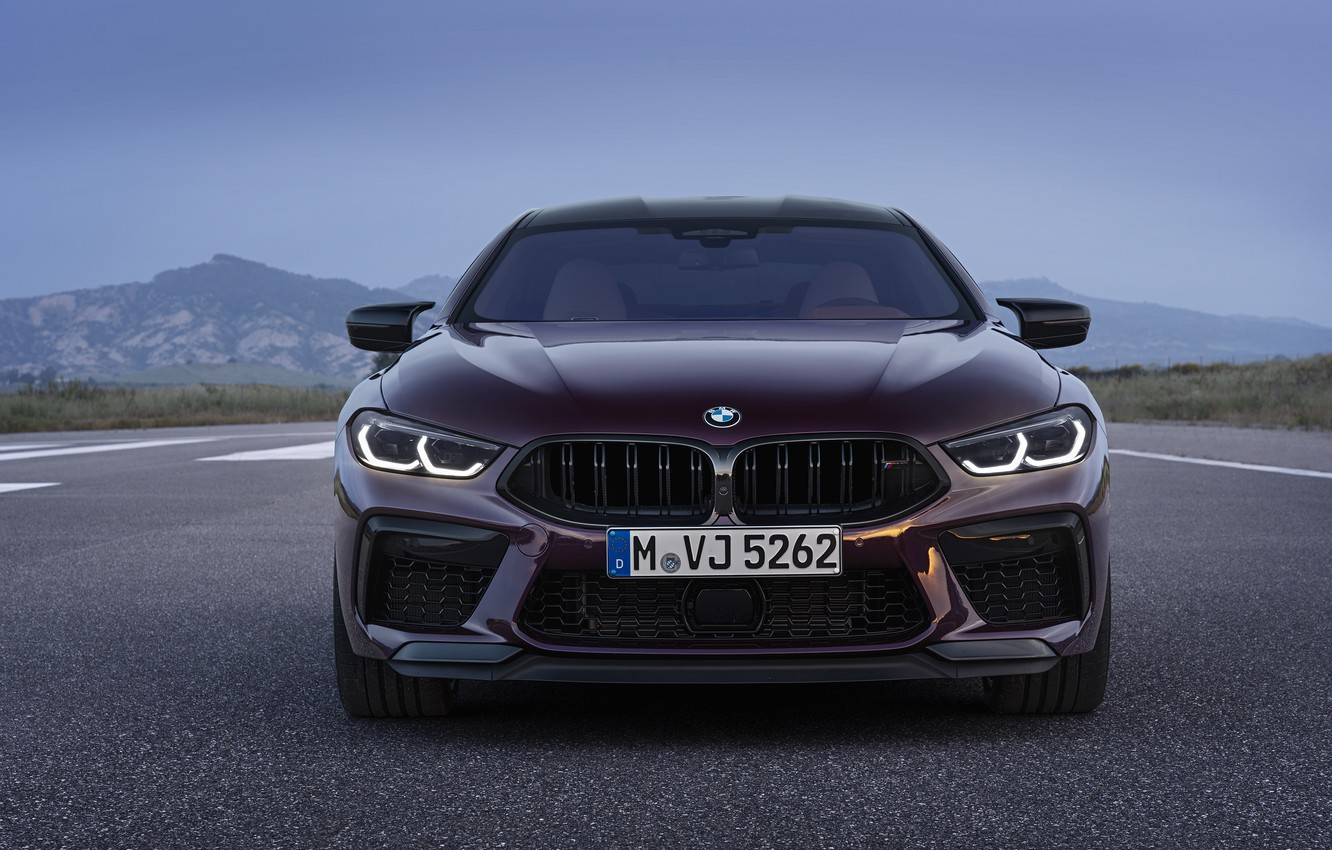 Photo wallpaper coupe, BMW, front view, 2019, M8, the four-door, M8 Gran Coupe, M8 Competition Gran Coupe, …