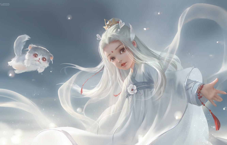 Photo wallpaper art, kitty, Princess, children's, nya, li miao, Sword net three human