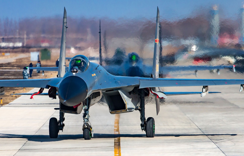 Photo wallpaper fighter, weapon, jet, Su-27, J-11, shengyang J-11