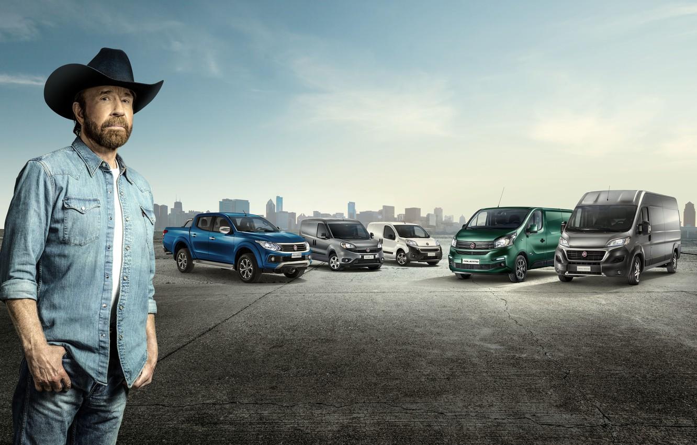 Photo wallpaper Chuck Norris, Chuck Norris, Fiat, light commercial vehicle, Fiat Fiorino, Carlos Ray Norris, Fiat Ducato, …