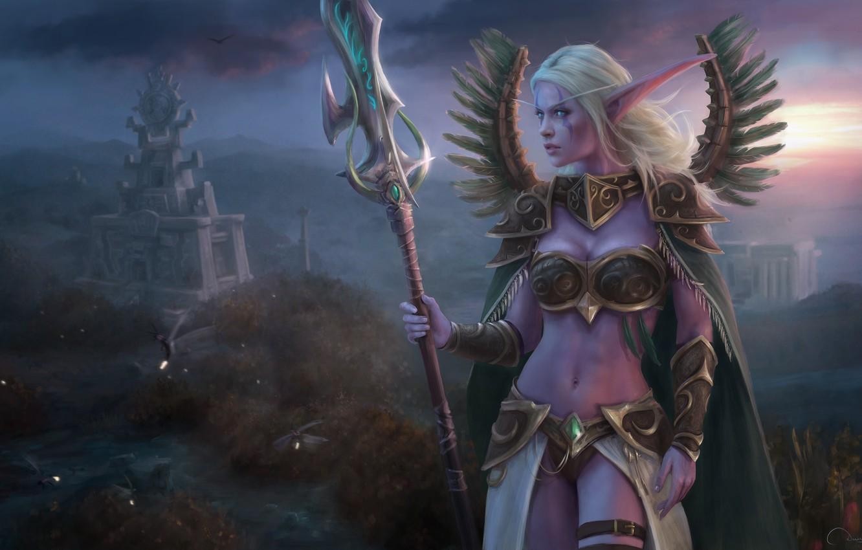 Wallpaper Girl Elf World Of Warcraft Warcraft Night Elf