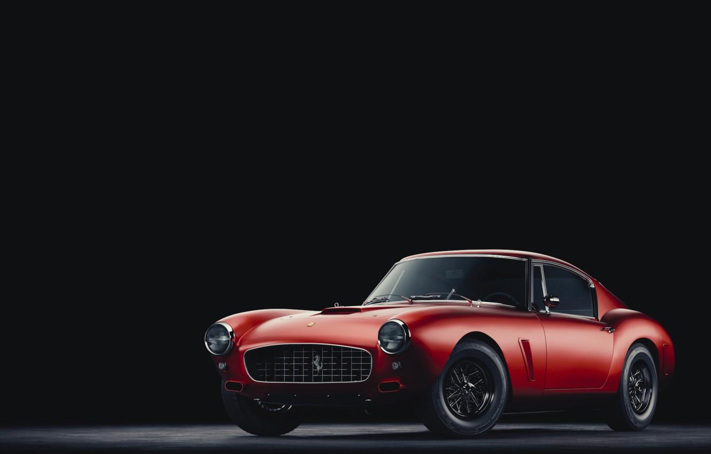 Photo wallpaper Red, Auto, Minimalism, Machine, Ferrari, Rendering, Concept Art, Vehicles, Ferrari 250 GT, Ferrari 250, Transport, …