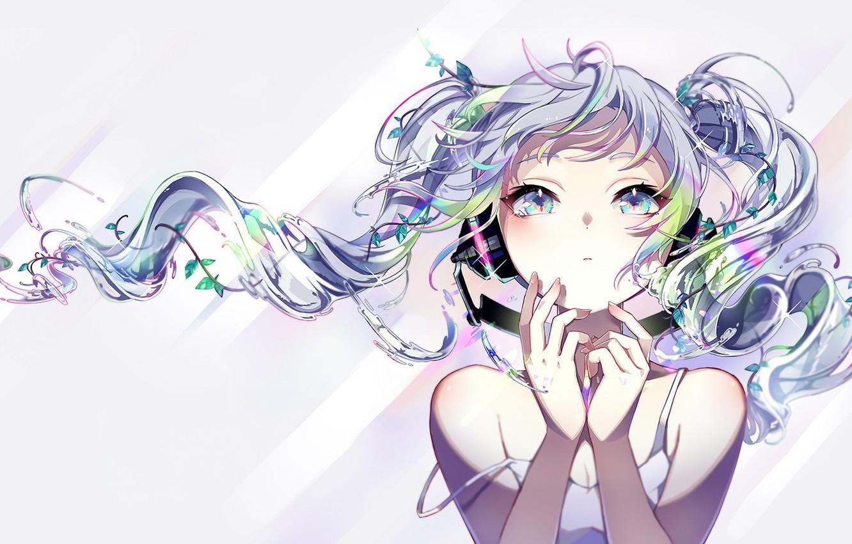 Photo wallpaper girl, Vocaloid, Hatsune Miku