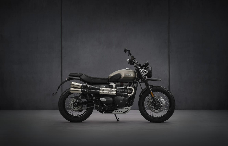 Photo wallpaper bike, motorcycle, triumph, 900, 2021, street-scrambler