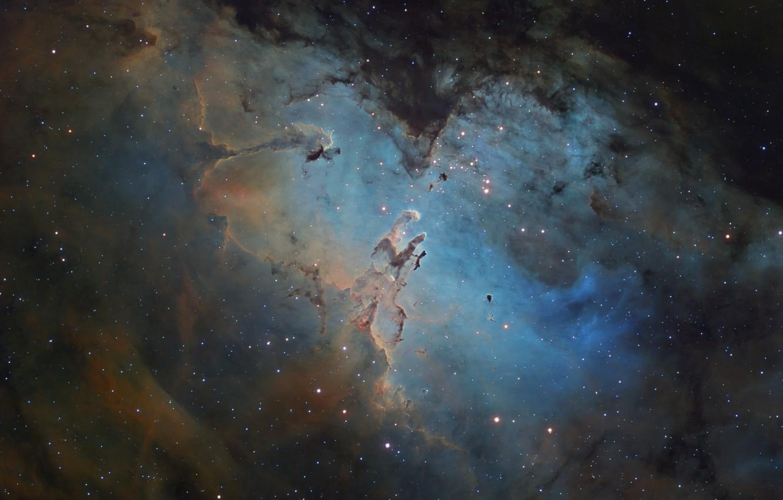 Photo wallpaper stars, nebula, Eagle, Eagle, Nebula, stars, M16