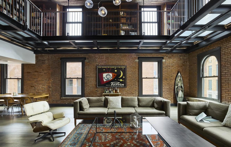 Wallpaper Design Style Interior New York Living Room Dining Room Loft Images For Desktop Section Interer Download