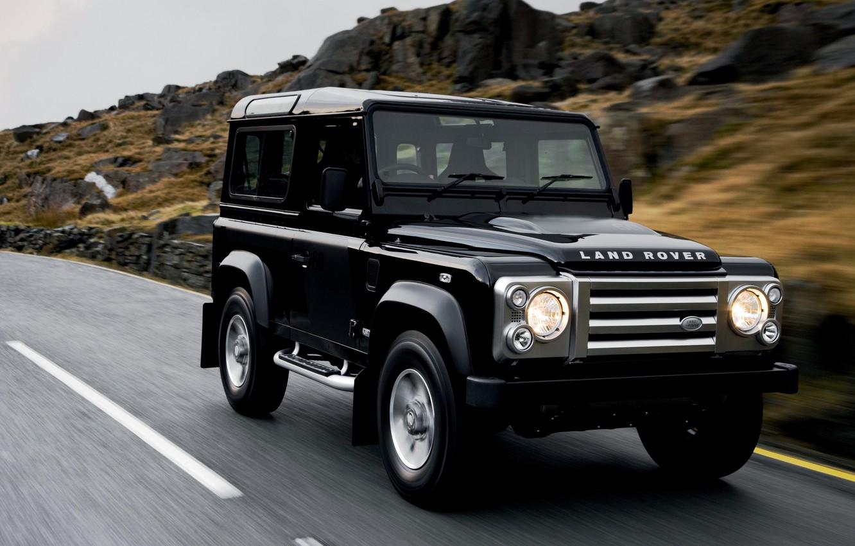Photo wallpaper asphalt, 2008, Land Rover, Defender, SVX, 60th Anniversary Edition