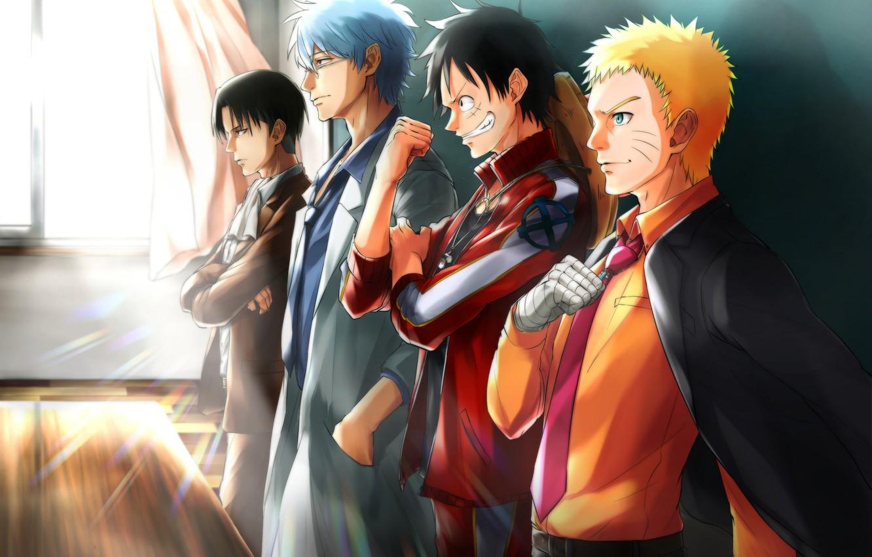 Anime Wallpaper Hd Wallpaper One Piece Vs Naruto