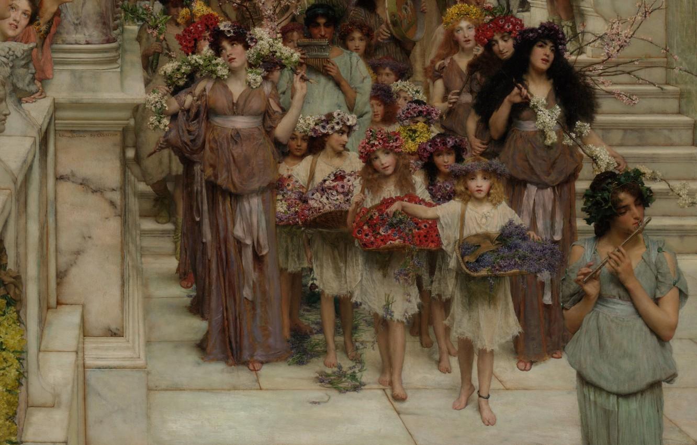 Photo wallpaper Spring, Los Angeles, Los Angeles, Spring, Lawrence Alma-Tadema, Lawrence Alma-Tadema, 1894, British painter, British painter, …
