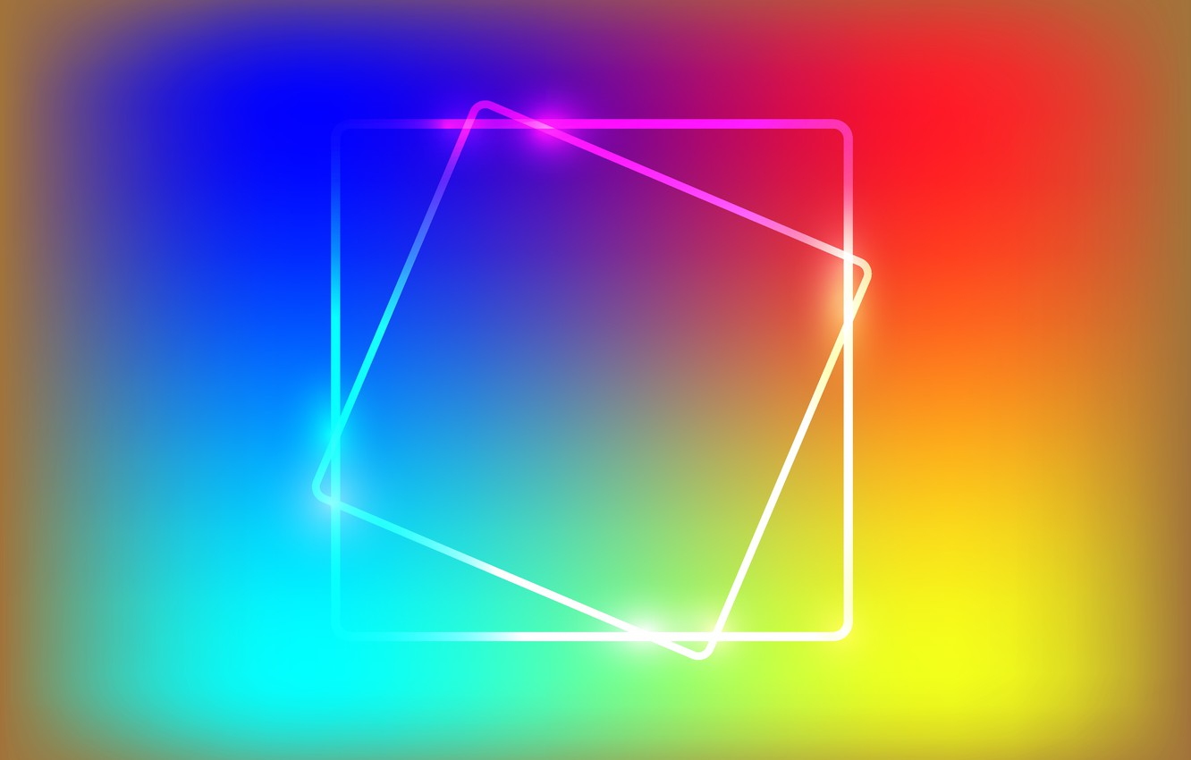 Photo wallpaper rainbow, vector, the Wallpapers, rainbow, polygons