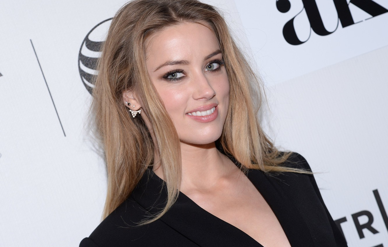 Wallpaper Look Girl Pose Hair Makeup Girl Amber Heard Face