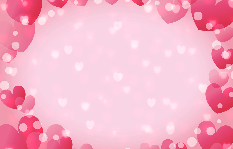 Photo wallpaper hearts, postcard, Valentine's Day