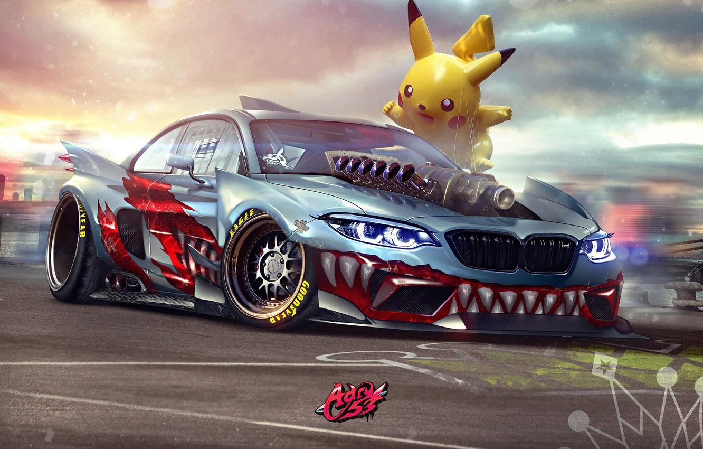 Photo wallpaper Auto, BMW, Machine, Tuning, Teeth, Car, Art, Art, Pikachu, SPEEDHUNTERS, Transport & Vehicles, by Timothy …