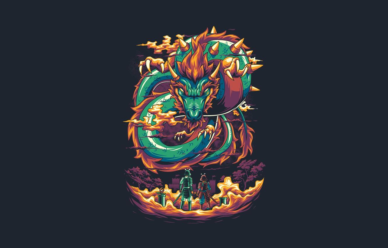 Wallpaper Dragon Art Mario Vector Game Background