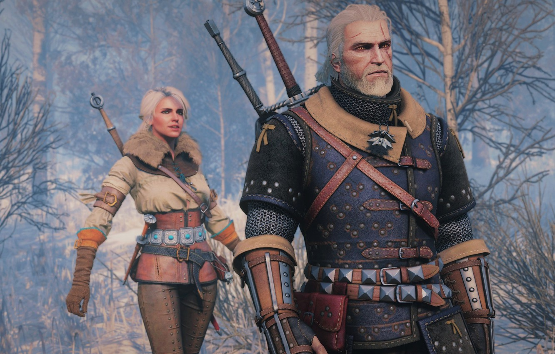 Wallpaper Geralt Cris White Garden Snow The Witcher 3 Wild