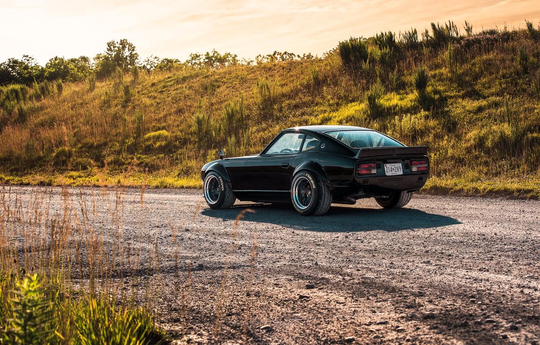 Photo wallpaper road, nature, design, style, Nissan, Car, Datsun, 240z 6