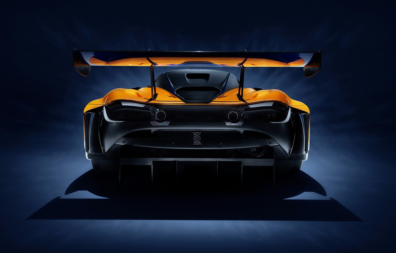 Photo wallpaper McLaren, racing car, rear view, GT3, 720S, 2019