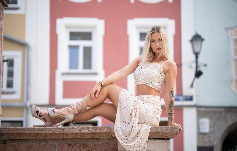 Photo wallpaper summer, girl, face, model, figure, beauty